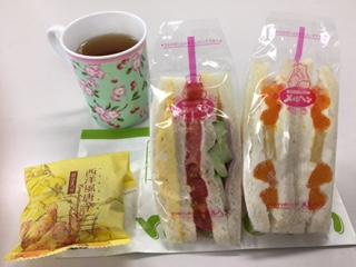 果物サンドイッチ♪