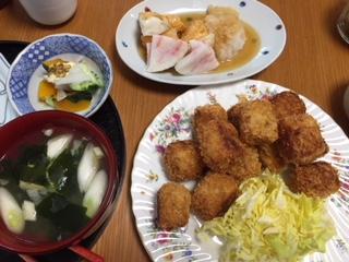 きょうの 晩ご飯♪